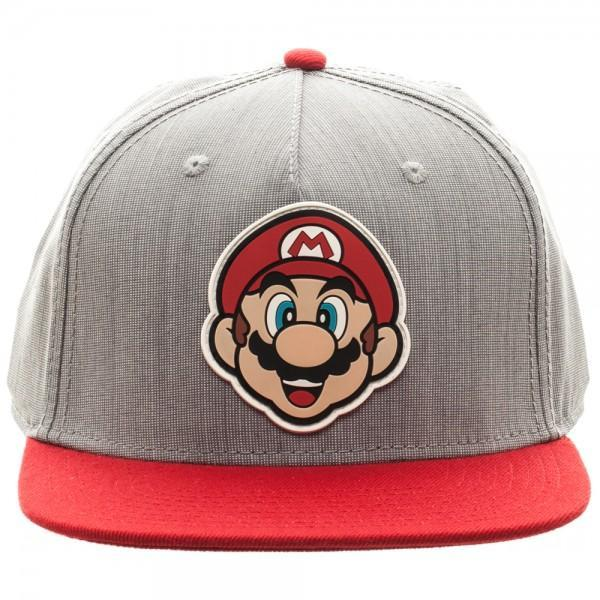 Nintendo Mario Rubber Sonic Weld Gray/Red SnapbackNick 90's - MERCHMILLA, Official nerd Merch lives here