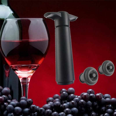 Wine Pumper - Wine Saver Vacuum Bottle Stopper Set 1 Pump+2 Caps Sealing-Vacuum Sealer-Golonzo