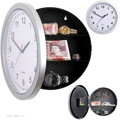 Hidden Secret Storage Wall Clock-Wall Clocks-Golonzo