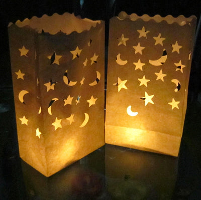 Heart Shaped Tea Light Holder Luminaria Paper Lantern Candle Bag-Camping Lights & Lanterns-Golonzo