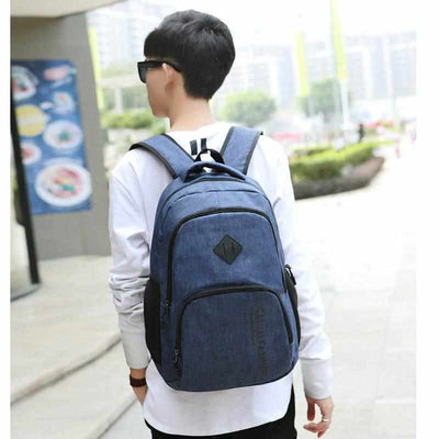 Casual Fashion Canvas Laptop/School Backpack-Backpacks-Golonzo