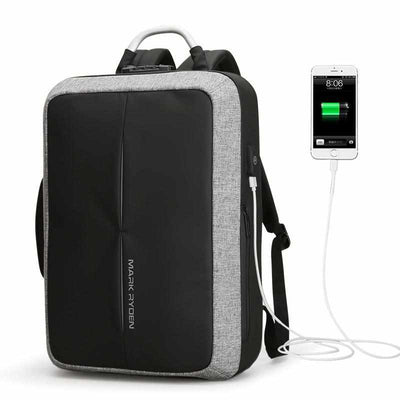 Anti-thief USB Recharging Men Backpack - NO Key TSA Lock Design-Backpacks-Golonzo