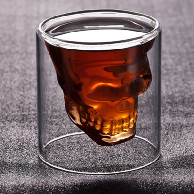 25-250ml Double glass cup Transparent skull-Golonzo