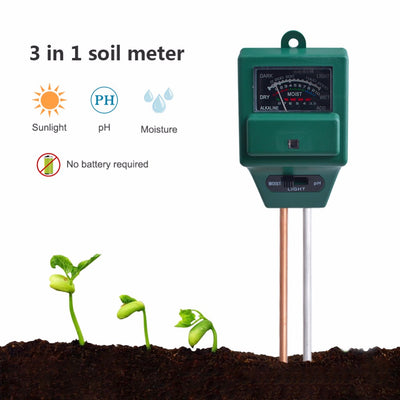 3 in 1 Soil Moisture Meter For Plants-Infrared Thermometers-Golonzo