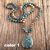 Natural Stones With Semi Precious Pendant Bohemia Necklaces