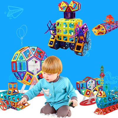 Magnetic Building Blocks For Kids - 54pcs Triangle Square Block-Toys-Golonzo