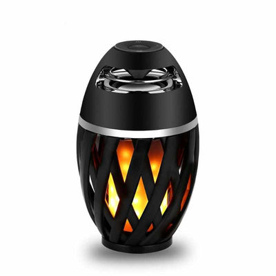 LED Flame Atmosphere Table Lamp Bluetooth Speaker - Portable Night Lights Touch Control-Desk Lamps-Golonzo