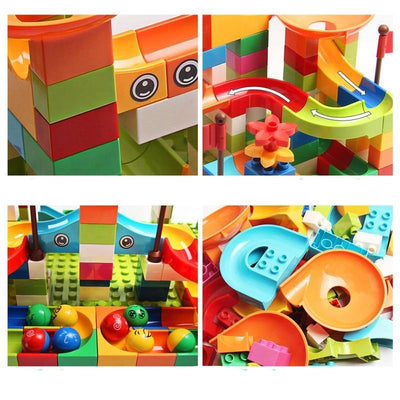 Marble Race Run Big Block Compatible Duploed Building-Toys-Golonzo