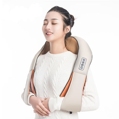 Electrical Infrared 4D Back Massager - U Shape Back Neck Shoulder Body Massager Infrared Heated-Massage & Relaxation-Golonzo