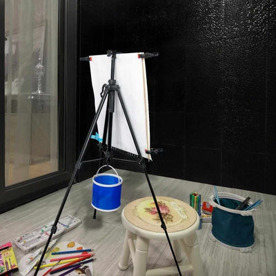 Hand Adjust Metal Easel - Adjustable Aluminum Alloy Sketch Easel-Easels-Golonzo