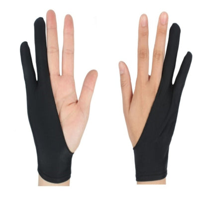 Black 2 Finger Anti fouling Glove,both for Right and Left Hand Artist Drawing-Glove Artist-Golonzo