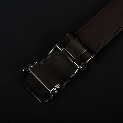 Cow Genuine Leather Men's Belt - Cowhide Strap Automatic Buckle Belts-Belts-Golonzo