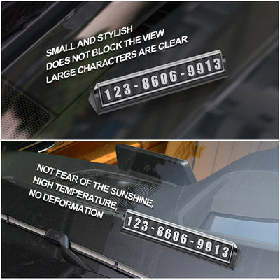Car Parking Card - Luminous Magnetic Phone Number Plate-motor vehicle window parts and accessories-Golonzo