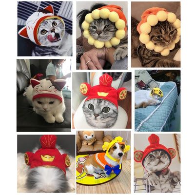 Cotton Pet Hat Decorative Party Pet Cap for Cats Small Cute Cosplay Pet Accessories Cute-Cat Supplies-Golonzo