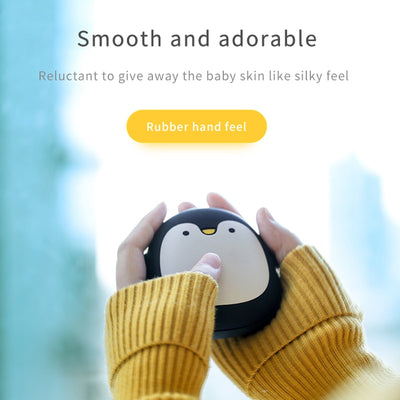 Rechargeable Electric Hand Warmers - Cartoon Penguin /Polar Bear-Gloves & Mittens-Golonzo