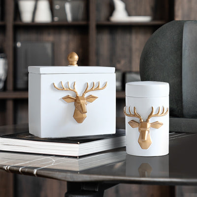 Deer Toothpick box container Toothpick holders Table home decor toothpick storage box gift toothpick dispenser-Toothpick holders-Golonzo