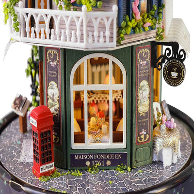 Doll House miniature Dollhouse Wooden Casa De Boneca DollHouses-Dollhouses-Golonzo