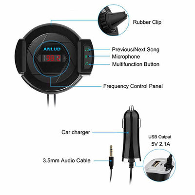 3 in 1 Multi Purpose In Car Bluetooth Handsfree Kit Car Charger USB FM Transmitter-mobile phone accessories-Golonzo