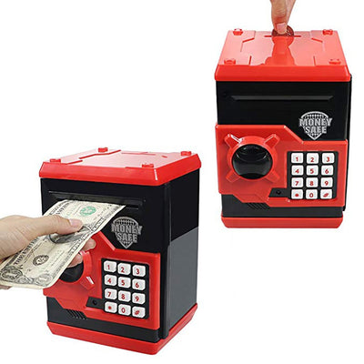 Electronic Piggy Bank Safe Money Box For Children Digital Coins Cash Saving Safe Deposit ATM-Piggy Banks & Money Jars-Golonzo