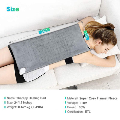 Electric Heating Pad For Back Pain-Massage & Relaxation-Golonzo