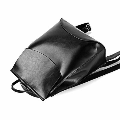 Youth Leather Fashion Women Backpack-Backpacks-Golonzo