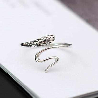 925 Sterling Silver Snake Rings-ring-Golonzo