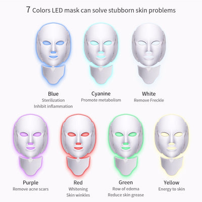 Led Light Therapy Face Mask Set-Acne Treatment and Kits-Golonzo
