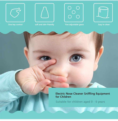 Baby Nose Cleaner - USB Rechargeable Electric Nasal Aspirator-Nasal Aspirators-Golonzo