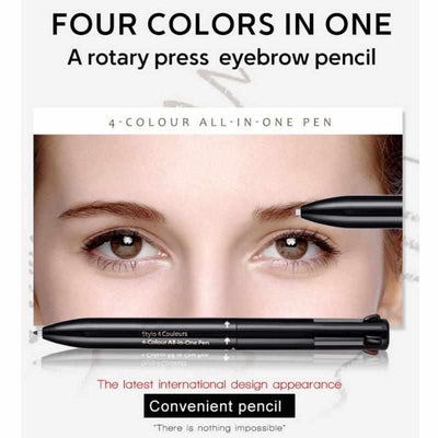 Brow Contour 4-In-1 Defining & Highlighting Brow Pencil-Eyebrow Enhancers-Golonzo
