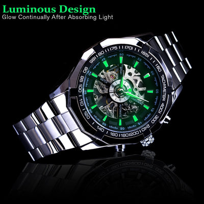 Stainless Steel Waterproof Mens Skeleton Watches-Watch-Golonzo