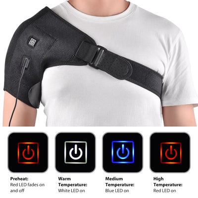 SHOULDER PAIN RELIEF - Heat Therapy Shoulder Brace-Massage & Relaxation-Golonzo