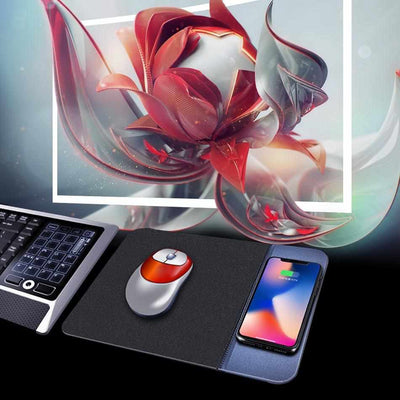 Mobile Phone Qi Wireless Charging Mouse Pad-Mouse Pads-Golonzo