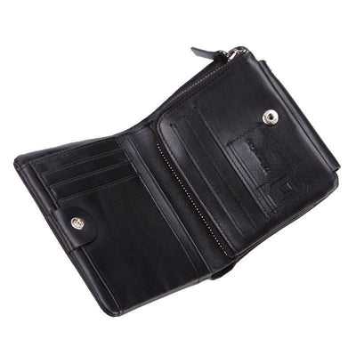 Genuine Leather Men Wallets - Vintage Trifold Wallet-Wallet and Money Clip-Golonzo