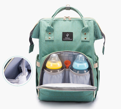 Large Capacity Diaper Bag Backpack Waterproof Maternity Bag Baby Diaper Bags With USB-Baby Carriers-Golonzo