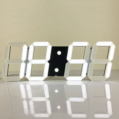 Large Digital 3D Led Wall Clock Modern Design Home Decor-Wall Clocks-Golonzo