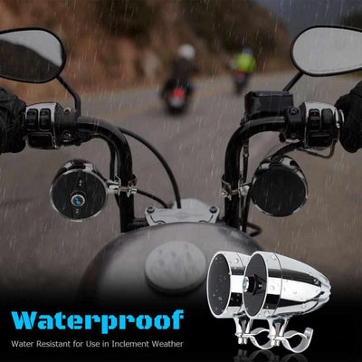 Motorcycle MP3 Music audio Player Bluetooth Speakers - Waterproof portable Stereo with FM Radio Tuner-Audio-Golonzo