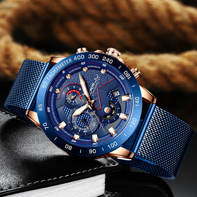 Luxury Mens Watches - Waterproof Fashion Quartz Watch-Watch-Golonzo