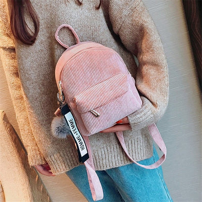 Mini Pastel Corduroy Backpack-Backpacks-Golonzo