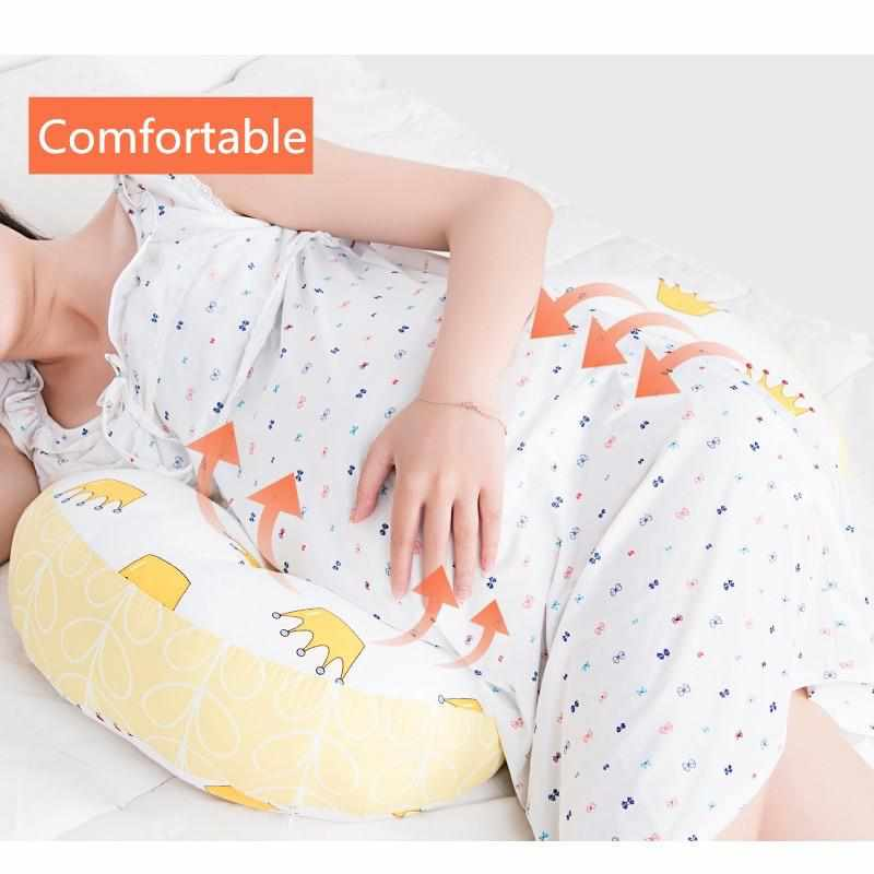 Pregnant U Type Belly Support Side Sleeping Pillow Maternity Waist Bed Cushion