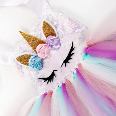 Fairy Unicorn Dress Outfit For Girls-Costumes-Golonzo
