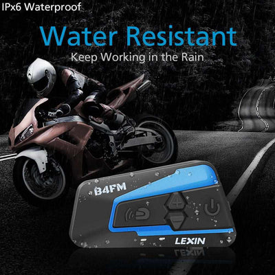 LX B4FM Motorcycle Bluetooth Helmet Headsets Intercom-Motorcycle Helmet Parts & Accessories-Golonzo