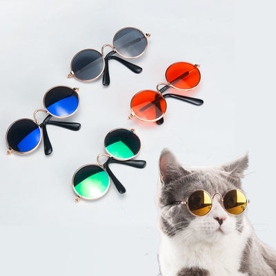 Pet Cat Glasses Pet Products for Little Cat Eye Wear Sunglasses Accessories-Cat Toys-Golonzo