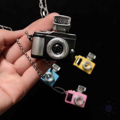 Punk Flash Camera Necklaces Pendant Luminous Necklace Retro-Necklace-Golonzo