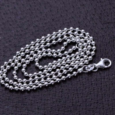Real Pure 925 Sterling Silver Chain Necklace 2.5 -3.0mm - Vintage Thai Silver Fashion Long Necklace-Necklace-Golonzo