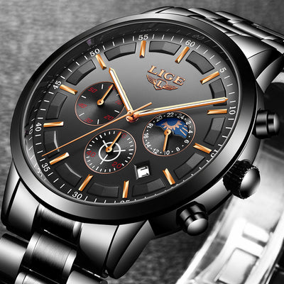 Fashion Sport Quartz Mens Watches - Luxury Business Waterproof Watch Relogio Masculino-Watch-Golonzo