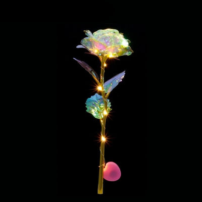 Romantic Colorful LED Fairy Rose Artificial Galaxy Rose Flowers-Artificial flower-Golonzo