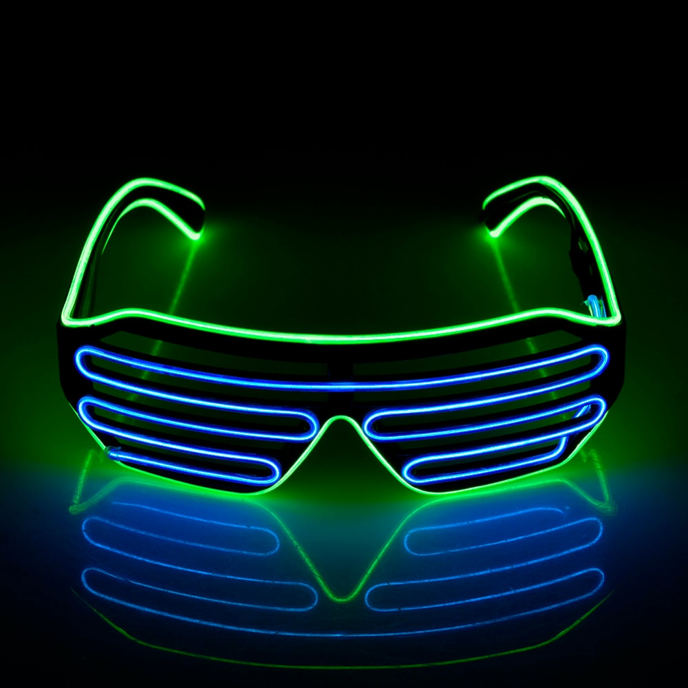 Classic Carnival Blinds Modes  Neon Light  LED Wire  Luminous EL Glasses