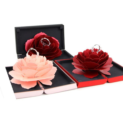 Pop Up Rose Flower Rings Box - Surprise Jewelry Storage Holder-ring-Golonzo
