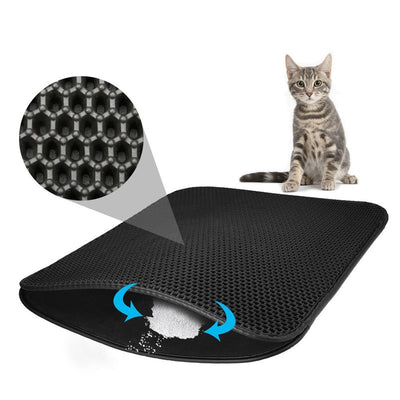 Cat Litter Locker Mat - Waterproof Pet Litter Traping Mat-Cat Bed-Golonzo