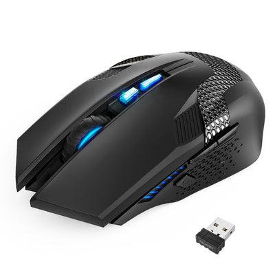 TeckNet Wireless Mouse RAPTOR Prime - Wireless Gaming Mouse with Nano Receiver 8 Buttons 4000DPI-Mice & Trackballs-Golonzo